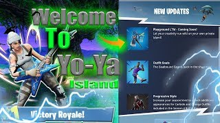 NEW UPDATE!!! Come See My Private Island! Trying Ads 1.6 OTW Fortnite Battle Royale