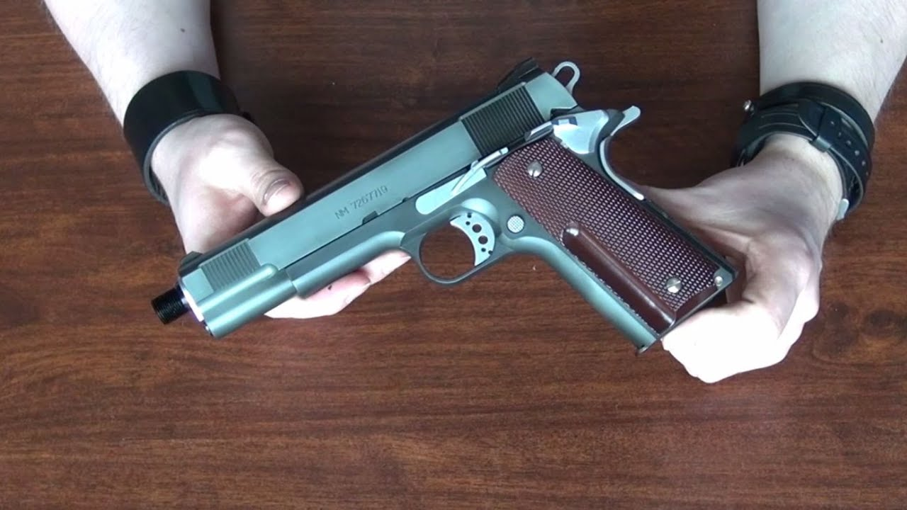 (Airsoft) Unboxing the MGS3 Snake Custom 1911 Western Arms ... M1911 Custom Mgs4