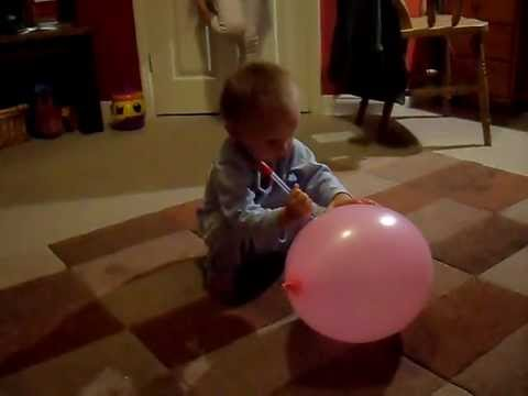 How to pop a balloon baby style