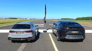 DRAG RACE! 2020 AUDI RS6 VS LAMBORGHINI URUS!