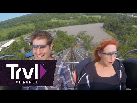 """""""Best Seat on a Coaster? Kari Byron & Tory Belleci Find Out on THRILL FACTOR"""""""