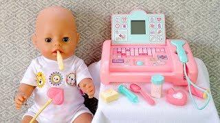 КАК МАМА и #Кукла Беби Бон Играли в Доктора Новая Игрушка Медицинский Сканер Беби Анабель