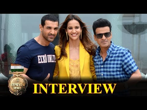 John Abraham, Manoj Bajpayee And Aisha Sharma At 'Satyameva Jayate' Promotion Interviews
