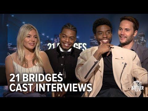21 Bridges Cast Interviews With Chadwick Boseman, Sienna Miller, Taylor Kitsch & More | Extra Butter