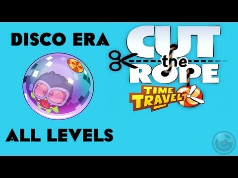 Cut the Rope Time Travel (Disco Era) Walkthrough-3 Stars All Levels