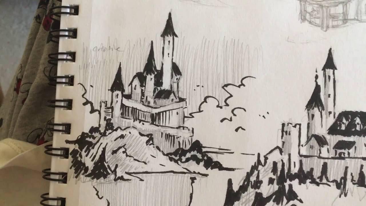 how to draw castles  fun easy method