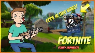 Fortnite BR FUNNY MOMENTS + STEAM GIFT CARD GIVEAWAY // Suppl Gaming