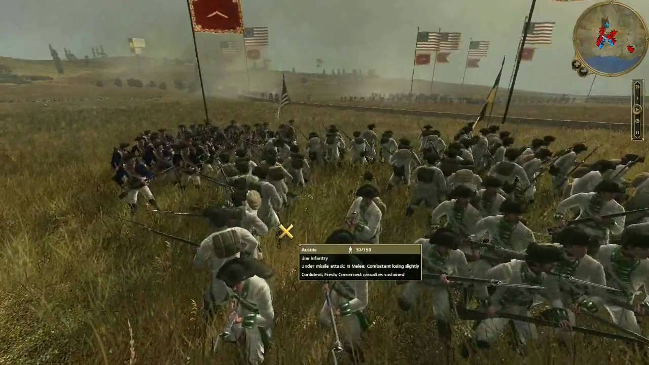 Empire Total War HD Commentary Battle United States vs