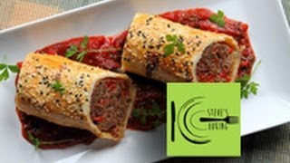 Italian Sausage Rolls With Tomato-basil Sauce (stevescooking)