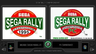 Sega Rally Championship (Arcade vs PC) Side by Side Comparison