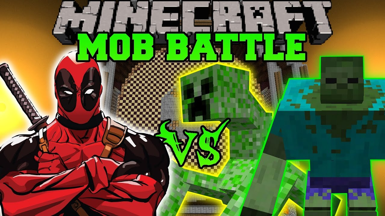 Mutant creeper and mutant zombie vs deadpool minecraft - Minecraft zombie vs creeper ...