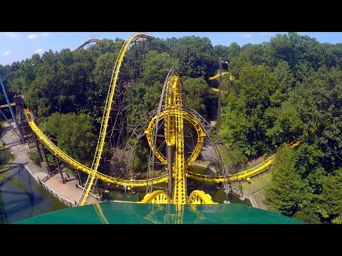 Loch Ness Monster front seat on-ride HD POV @60fps Busch Gardens Williamsburg