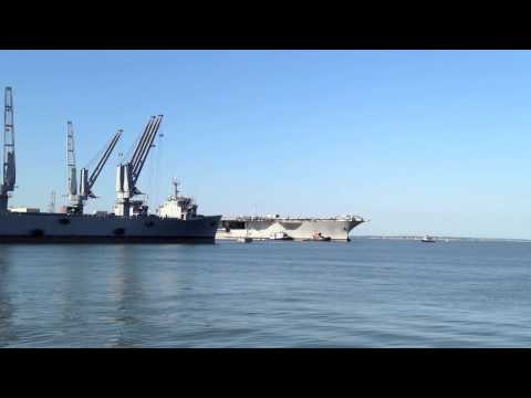 USS Enterprise Arrives at Newport News Shipbuilding