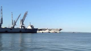 USS Enterprise Arrives at Newport News Shipbuilding