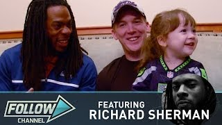 Richard Sherman Meets the Seahawks' Tiniest 12th Man