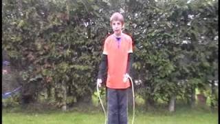 How to do the E.B. (front back cross) jump rope trick.