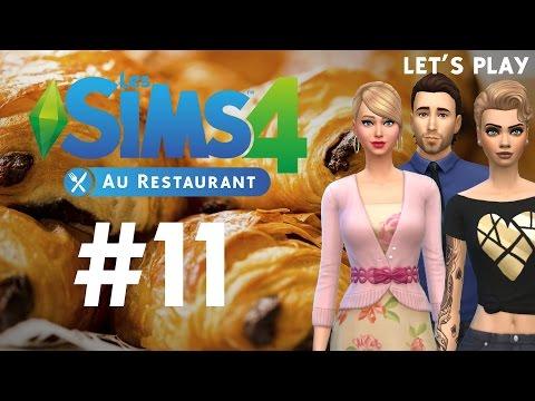 Les Sims 4 Au Restaurant LP   Episode 11   Pain au chocolat VS Chocolatine