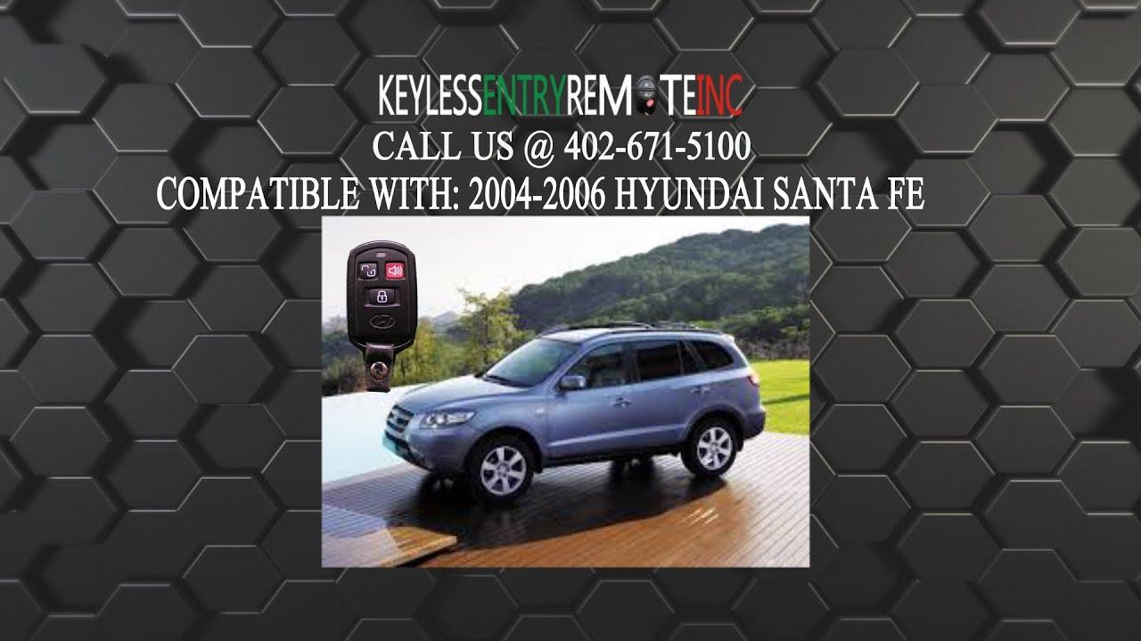 How To Replace Hyundai Santa Fe Key Fob Battery 2004 2005 2006 Youtube