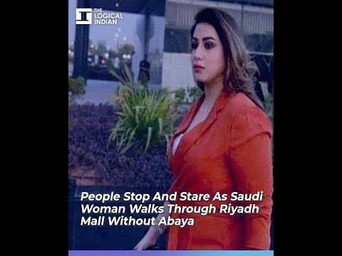 People Stop And Stare As Saudi Woman Walks Through Riyadh Mall Without Abaya