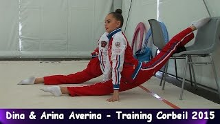 Dina Averina & Arina Averina - Training Tournament Corbeil-Essonnes 2015