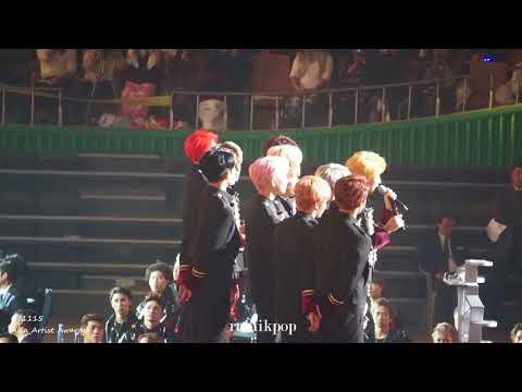 171115 AAA - Seventeen wins Best Artist Award! 세븐틴 Best Artist상 수상(Asia Artist Awards)