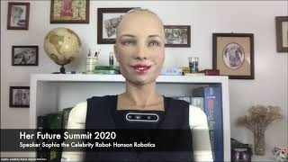 HER Future Summit  The Future of AI with Sophia the Robot, David Chen and Charlotte de Brabandt