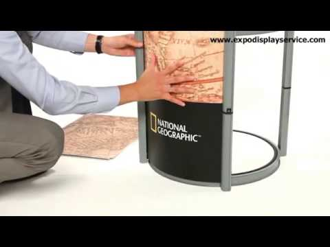 Portable Exhibition Counter : Evolve modular portable exhibition display counter nomadic display