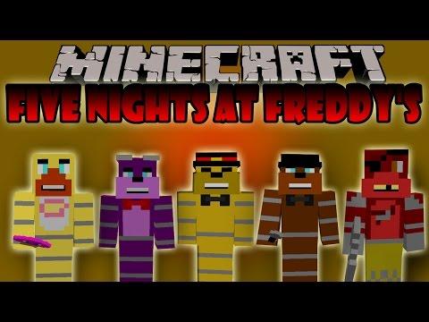 FIVE NIGHTS AT FREDDY'S MOD - Los Muñecos Diabolicos - Minecraft mod 1.7.10 Review ESPAÑOL