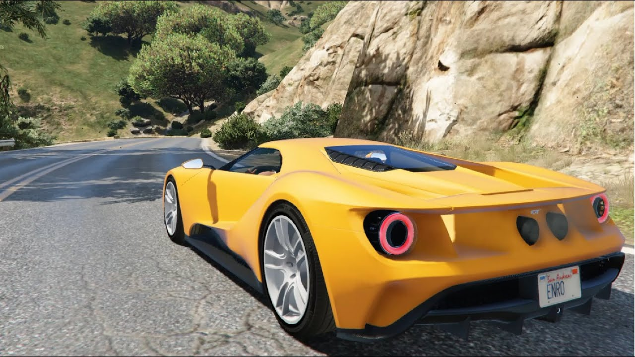 Gta V  Ford Gt Add On Replace   Enromovies