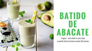 Batido de abacate - sem leite e sem soja