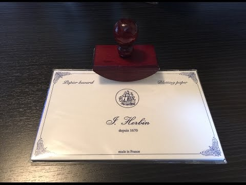 J. Herbin Ink Blotter review and demo!