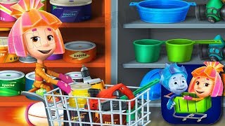 Fixies Supermarket Shopping Mania in Grocery Store Games Educational Kids Games Fun Baby Games #1