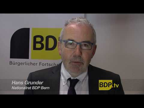 BDP Nationalrat Hans Grunder zur Zersiedelungs-Initiative