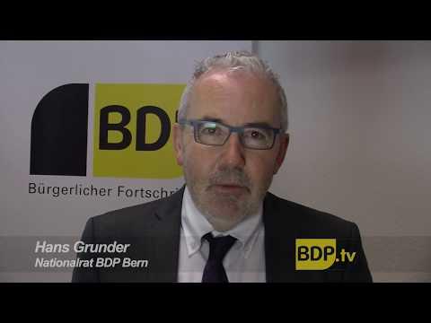 BDP Nationalrat Hans Grunder zur Zersiedelungs-Initiative
