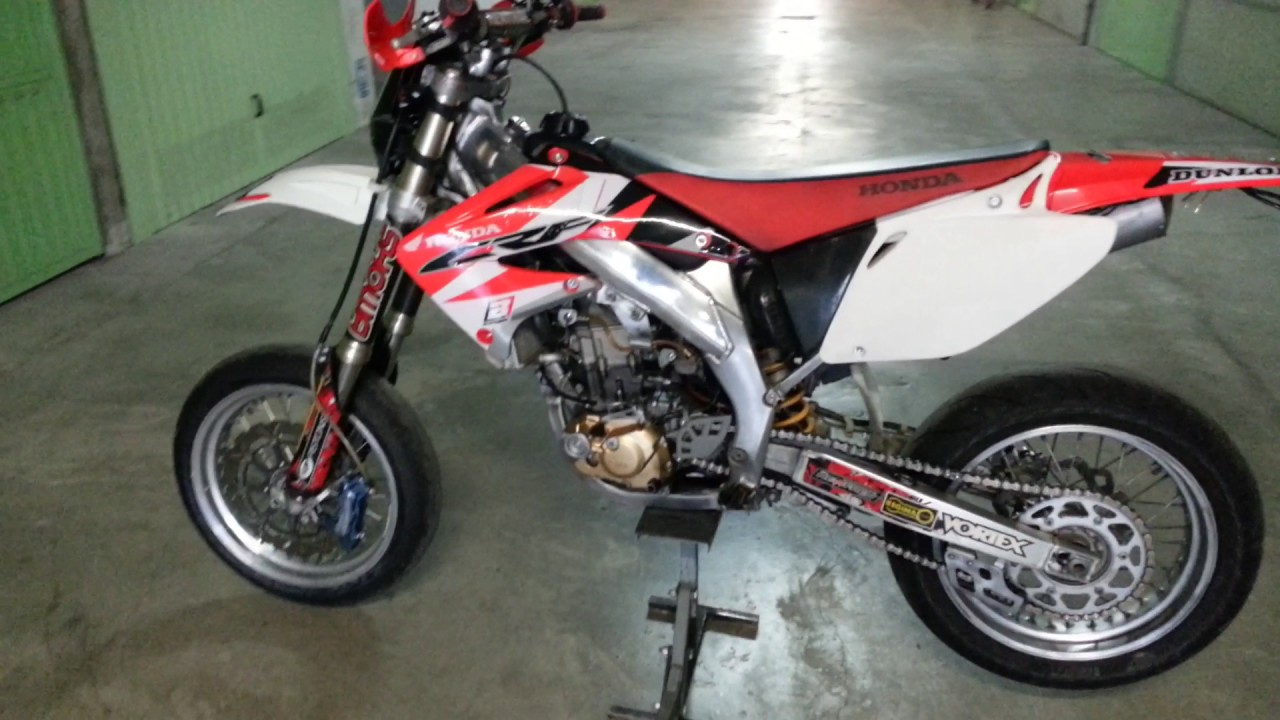 Honda Crf 450 Supermotard 2003 Youtube