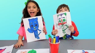 Finger Family Nursery Rhymes Song - 3 Colors Marker Challenge