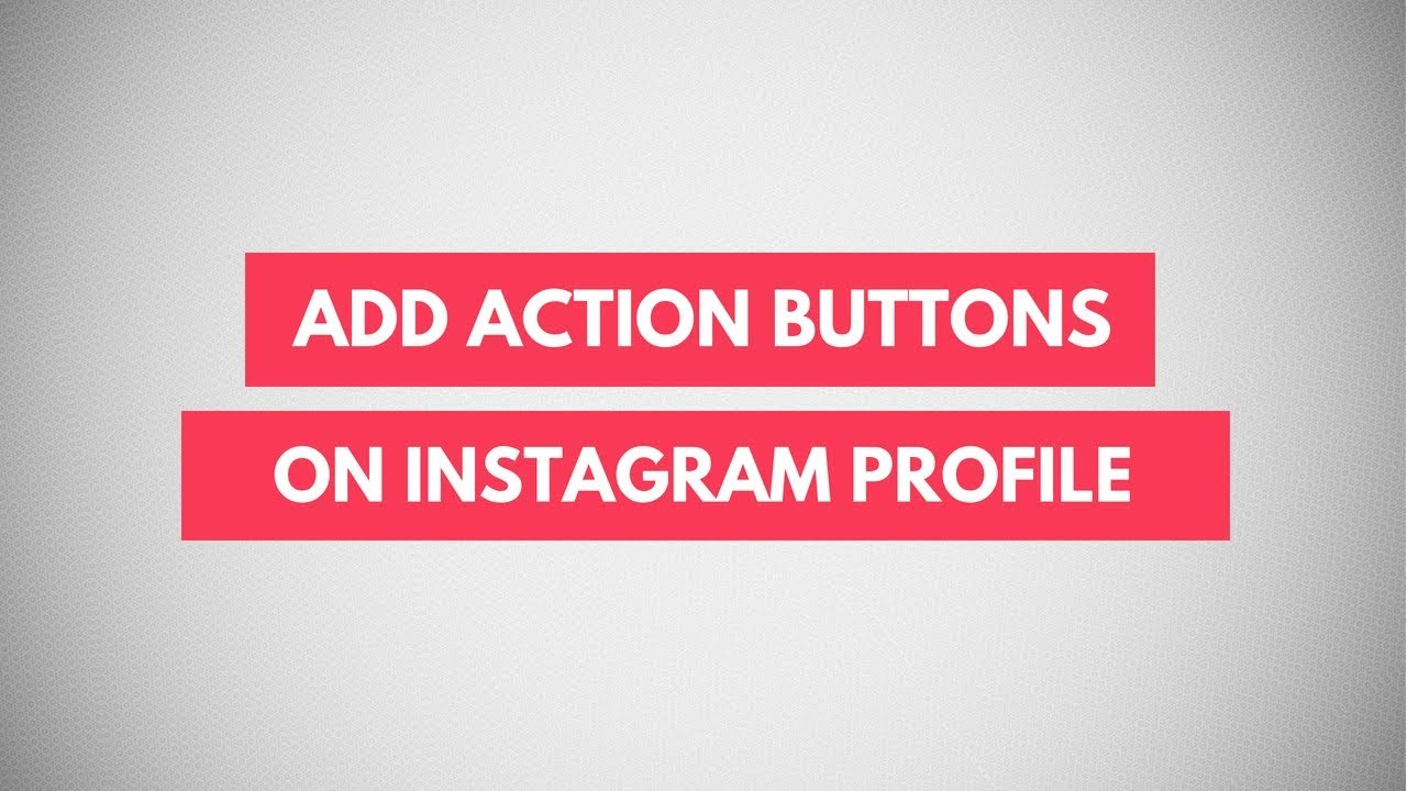 How To Add Action Buttons To Instagram Profile | Book, Buy, Sell Button on  Instagram