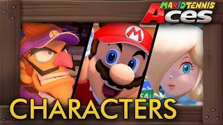 Mario Tennis Aces - All Characters (Gameplay Showcase)