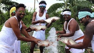 Auto Boys Enjoying Fish Curry | Hunting and Cooking Big Fish Curry | COUNTRY FOODS