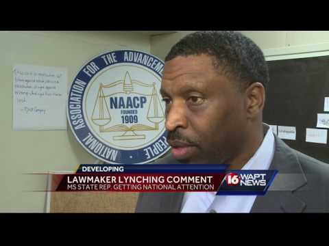 Lawmaker lynching comment
