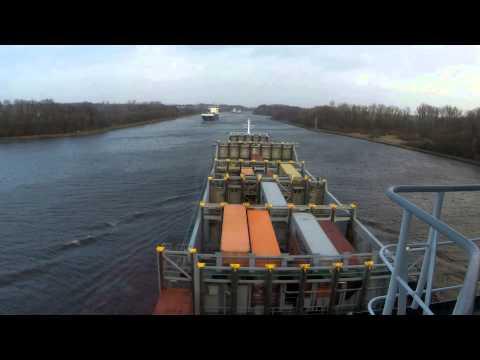 Kiel Canal (NOK) from North Sea to Baltic Sea on M/V Jork