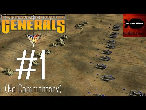 Command & Conquer: Generals USA Campaign Playthrough Part 1 (No commentary, Mission 1)