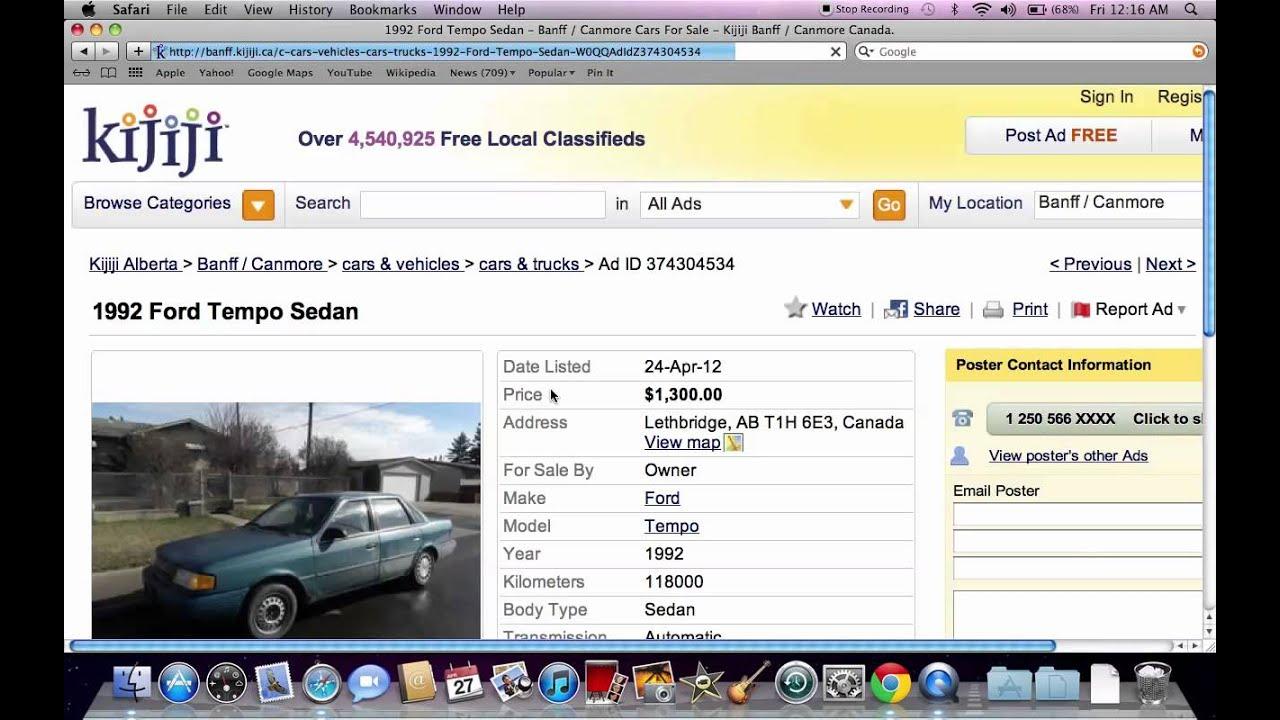 Kijiji Banff - Used Car Models at $500 and Under $1000 Available ...