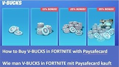🔴🔴🔴 How to Buy V-BUCKS in FORTNITE with Paysafecard /  Wie man V-BUCKS mit Paysafecard kauft