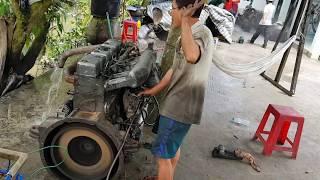 Sửa chửa động cơ Daewoo 6 máy bị gãy bạc hư piston
