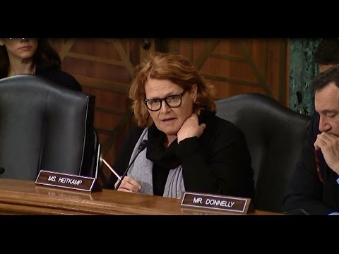 Heitkamp at Senate Committee Hearing Focused on Next Steps for U.S. Sanctions on Russia