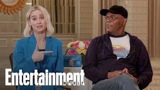 Captain Marvel s Brie Larson & Samuel L. Jackson On The  Buddy-Cop  Comedy | Entertainment Weekly