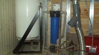 Установка бойлера (водонагревателя) в маленьком помещении, на каркас.(How to install a water heater in small space. Каркас или рама для бойлера/водонагревателя своими руками. Как установить бойлер..., 2014-06-11T12:49:55.000Z)