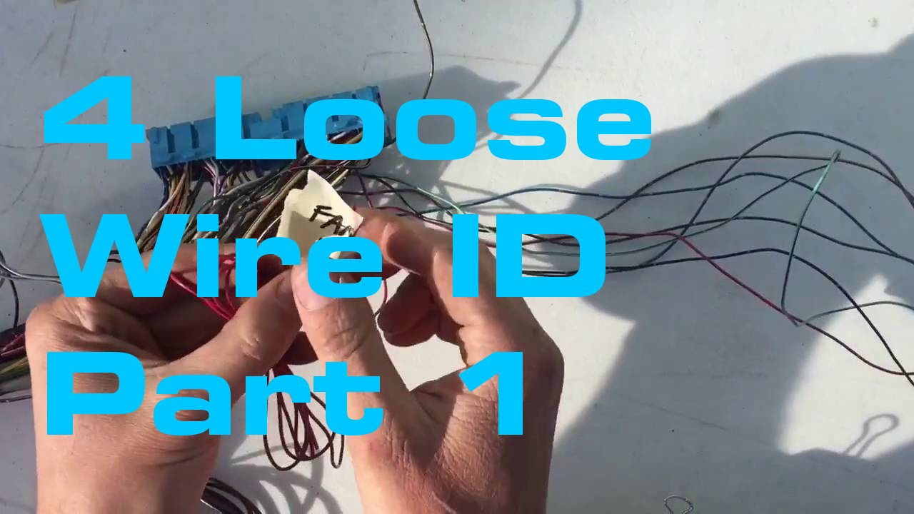 small resolution of loose wire identification 1 2 wiring harness series youtube
