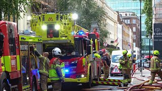 70 firefighters tackle a fire at Guy Ritchie's London pub